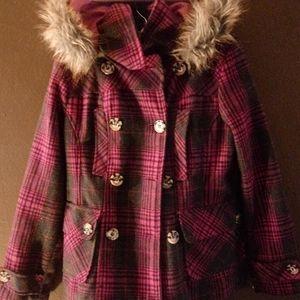 Girls Dollhouse wool jacket with hood